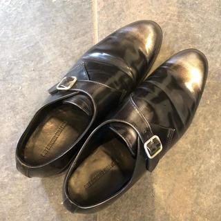 ダイエットブッチャースリムスキン(DIET BUTCHER SLIM SKIN)の美品革靴ビジネスシューズ結婚式ドレスシューズシルバー黒(ドレス/ビジネス)