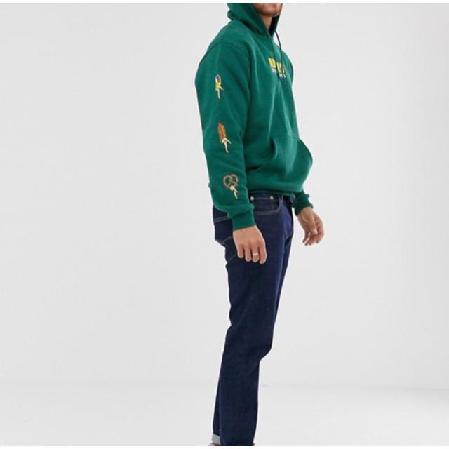 adidas(アディダス)の海外限定 adidas アディダス UK M レア ロゴ入り イラストパーカー  メンズのトップス(パーカー)の商品写真