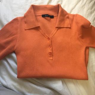 ケティ(ketty)のポロシャツ オレンジ サマーニット(ポロシャツ)