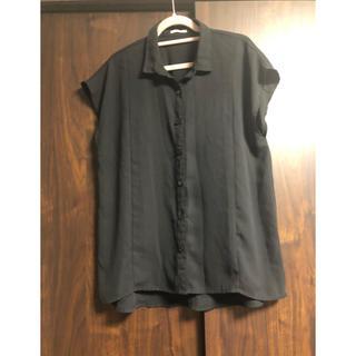 ジーユー(GU)のGU ボタン付きシャツ(シャツ/ブラウス(半袖/袖なし))