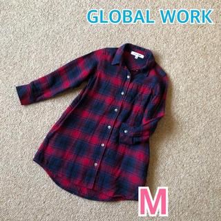 GLOBAL WORK - ★ GLOBAL WORK ★ グローバルワーク ネルシャツ ワンピース