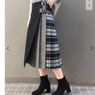 フレームワーク(FRAMeWORK)のお値下げ オニールオブダブリン  パッチワークキルトスカート 美品(ひざ丈スカート)