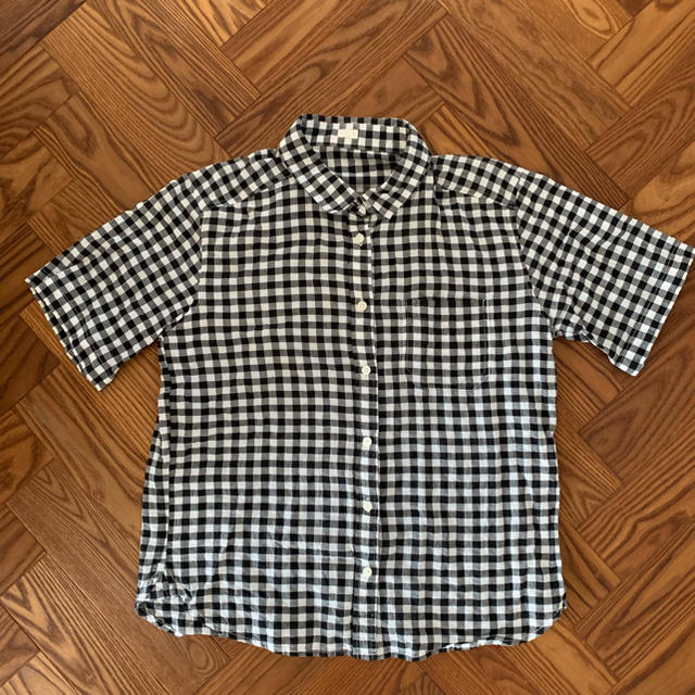 GU(ジーユー)のGU ギンガムチェック 半袖シャツ レディースのトップス(シャツ/ブラウス(半袖/袖なし))の商品写真