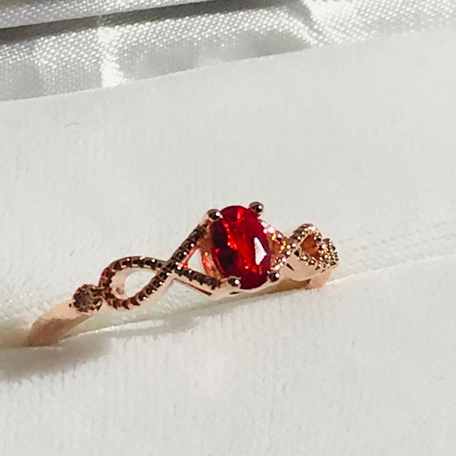 ねじれミル打ち★レディース リング 指輪 大きめ レディースのアクセサリー(リング(指輪))の商品写真