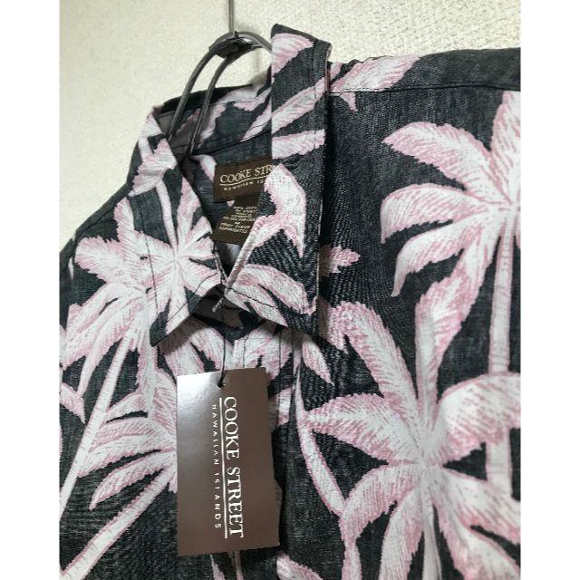 コストコ(コストコ)の新品 ★ COOKE STREET アロハシャツ US-M ヤシの木 総柄  メンズのトップス(シャツ)の商品写真