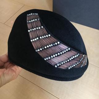 ミサハラダ(misaharada)のミサハラダ MISA HARADA ベレー帽 定価5万円(ハンチング/ベレー帽)