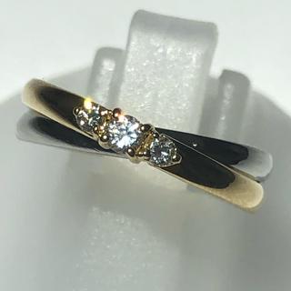 スタージュエリー(STAR JEWELRY)のダイヤモンドリング スタージュエリー k18yg イエロー pt900 プラチナ(リング(指輪))