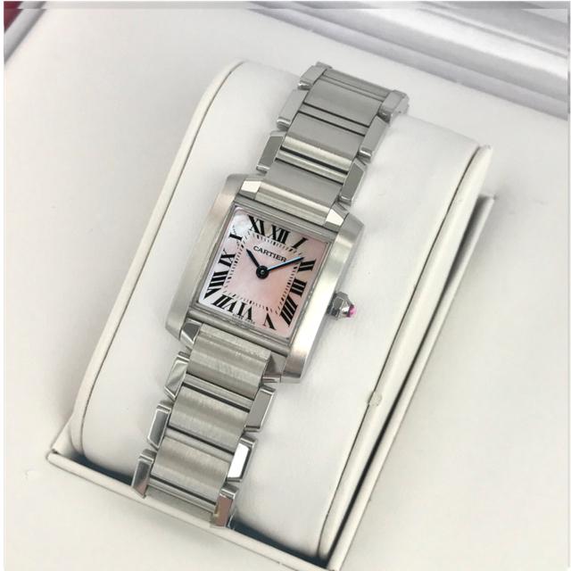 Cartier - 研磨済み✨カルティエCartierピンクシェル タンクフランセーズSM腕時計の通販 by Balocco's shop|カルティエならラクマ