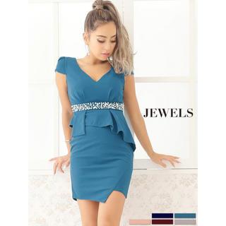 ジュエルズ(JEWELS)のキャバドレス ワンピース ドレス グリーン(ナイトドレス)