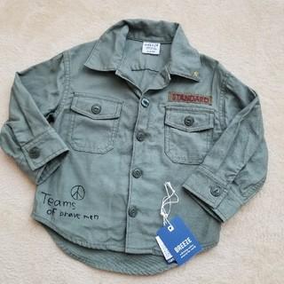 ブリーズ(BREEZE)のブリーズ BREEZE ミリタリーシャツ 80 カーキ 男女兼用(ジャケット/コート)