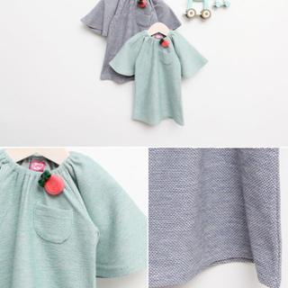 バタフライスリーブワンピース チュニックワンピース 女の子 子供服 韓国(ワンピース)