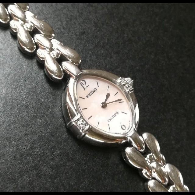 SEIKO - セイコーSEIKO  エクセリーヌ 2Pダイヤ レディース腕時計 電池交換済み の通販 by ローズ|セイコーならラクマ