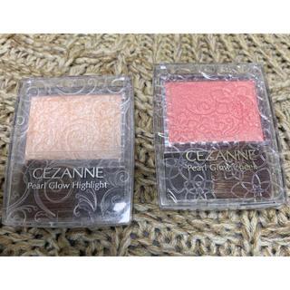 セザンヌケショウヒン(CEZANNE(セザンヌ化粧品))のセザンヌ パールグロウハイライト& チーク2点セット(フェイスカラー)