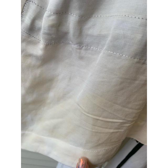 HELMUT LANG(ヘルムートラング)のヘルムートラング ホワイト 変形 ベスト レディースのトップス(ベスト/ジレ)の商品写真