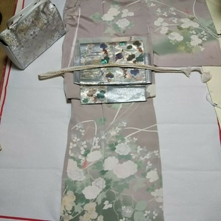 京友禅 訪問着と、螺鈿袋帯セット(着物)