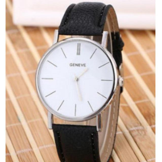 GENEVE ヨーロピアンスタイル ファッション腕時計 ブラックの通販 by スヌーピー's shop|ラクマ
