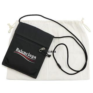 バレンシアガ(Balenciaga)のBALENCIAGA ストラップポーチ エクスプローラー 黒 刺繍 A1397(ショルダーバッグ)