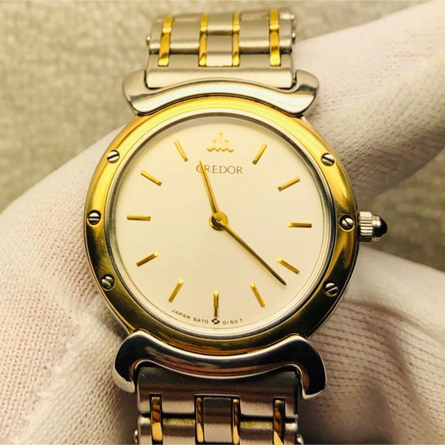SEIKO - 美品 SEIKO CREDOR SS+ 18KT ベゼル  レディース腕時計の通販 by Y1102's shop|セイコーならラクマ
