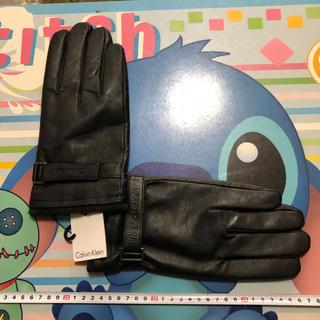 カルバンクライン(Calvin Klein)のCalvin Klein カルバンクライン Mサイズ タグ付き・新品・レザー手袋(手袋)