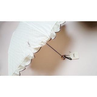 Yves Saint Laurent Beaute - 新品 イヴサンローラン  折りたたみ 傘 フリル 日傘
