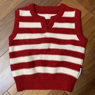 コムサイズム(COMME CA ISM)のベビー服 ニット ベスト(ニット/セーター)