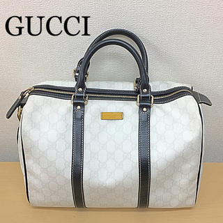 buy online 01bf2 4f1a4 鑑定済み 正規品 GUCCI グッチ ボストンバッグ 正規袋付き 送料込み