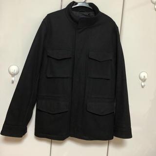 ギャップ(GAP)のMENS GAP 学生も着やすいコート 黒 (ピーコート)