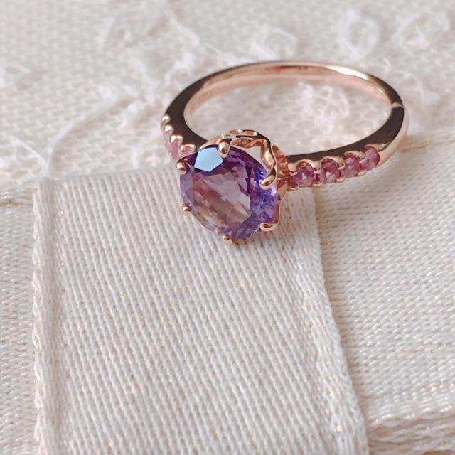 PonteVecchio(ポンテヴェキオ)のポンテヴェキオ   アメジスト ピンクサファイアリング レディースのアクセサリー(リング(指輪))の商品写真
