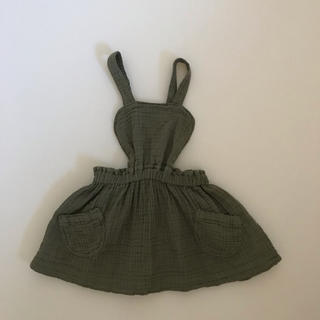 ザラキッズ(ZARA KIDS)の未使用 ZARA kids babygirl ジャンパースカート(スカート)