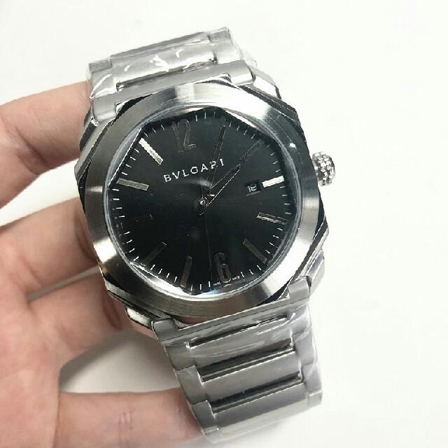 BVLGARI - ブルガリ オクト BG041S 裏スケ 黒 メンズ 腕時計の通販 by sfghasd's shop|ブルガリならラクマ