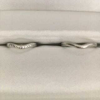 ティファニー(Tiffany & Co.)のティファニー 9p ダイヤモンド カーブド バンド リング Pt950 7.6g(リング(指輪))