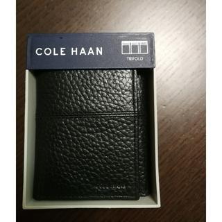 コールハーン(Cole Haan)の【新品未使用】Cole Haan コールハーン レザー財布 カードケース(折り財布)