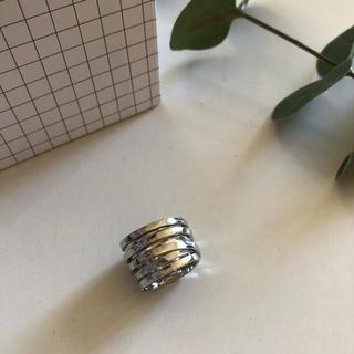 ザラ(ZARA)のシルバー大ぶりリング ENFOLDeteTODAYFUL(リング(指輪))