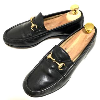 グッチ(Gucci)のGUCCI 34 1/2 ホースビット ローファー レディース ブラック(ローファー/革靴)