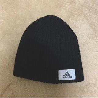 アディダス(adidas)の【adidas】アディダス ニット帽 黒 レディース(ニット帽/ビーニー)