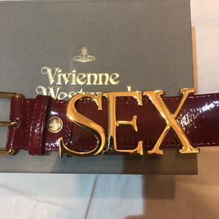 Vivienne Westwood - 新品・未使用 ヴィヴィアンウエストウッド SEX プレートロゴベルト パテント赤
