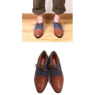 【新品】トラッドシューズ ブラウン 21.5cm~22cm (表記22.5cm)(ローファー/革靴)