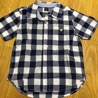 ベビーギャップ(babyGAP)のbaby Gap チェック半袖シャツ(ブラウス)