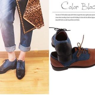 【新品】トラッドシューズ ブラック 21.5cm~22cm (表記22.5cm)(ローファー/革靴)