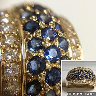 サファイア ダイヤモンド k18 (リング(指輪))