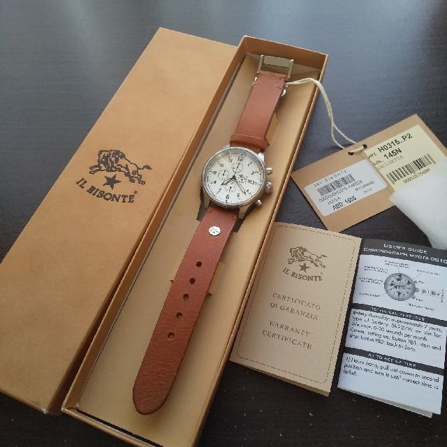 IL BISONTE - 新品 イルビゾンテ 本革 レザー 腕時計 42mm クォーツ ブラウンの通販 by Ginga's shop|イルビゾンテならラクマ