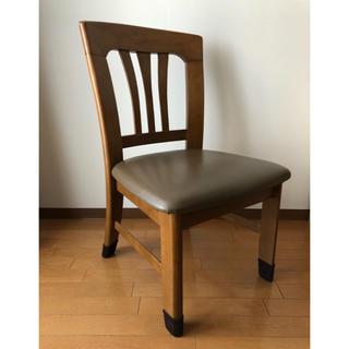 ニトリ(ニトリ)のダイニングチェア ① 椅子 1脚 肘なし ダイニングテーブル用 木製 木目 イス(ダイニングチェア)