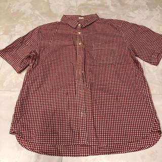 ジーユー(GU)のチェックシャツ Lサイズ(シャツ/ブラウス(半袖/袖なし))