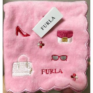 Furla - 【新品未使用】FURLA タオルハンカチ ピンク