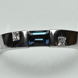 Pt900 綺麗な アレキサンドライト ダイヤモンドリング 12号 指輪  (リング(指輪))
