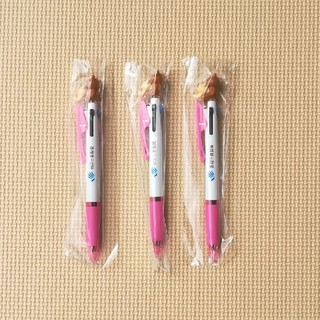 ミツビシエンピツ(三菱鉛筆)のリラックマ JETSTREAM3色ボールペン(ピンク)3本セット(ノベルティグッズ)