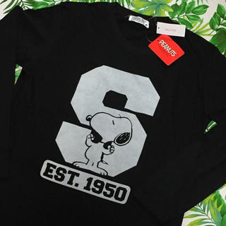 スヌーピー(SNOOPY)の新品*タグ付き  スヌーピ  ロンTシャツ(Tシャツ/カットソー(七分/長袖))