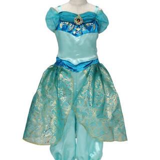 ハロウィン仮装用!ディズニーおしゃれドレス ジャスミン姫100cm-110cm(ワンピース)