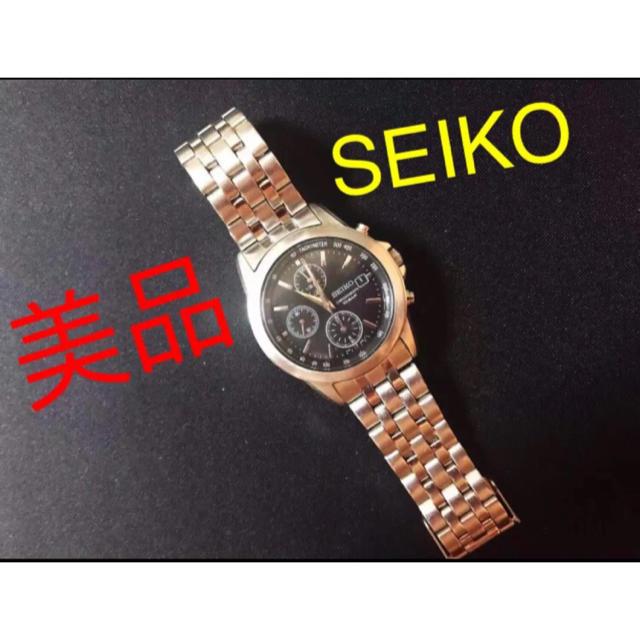 SEIKO - セイコーSEIKO クロノグラフ 7T92-0LH0 10BAR防水メンズ腕時計の通販 by ゆり shop|セイコーならラクマ