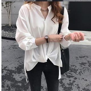 大人女子のオフィススタイル ゆったりとろみブラウス ホワイト(シャツ/ブラウス(長袖/七分))